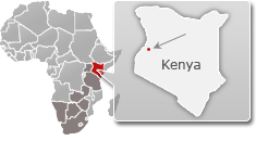 Map of Kenya with a highlight of Saiwa Swamp National Park